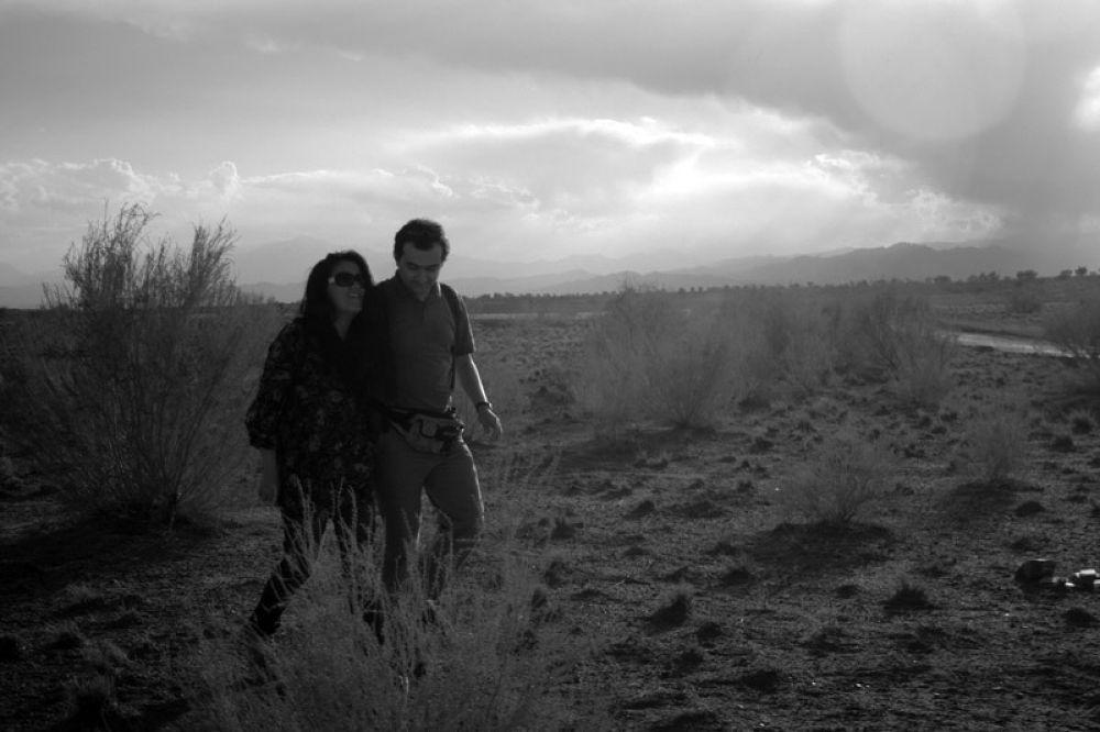 Photo in Black and White #iran #kashan #desert #black and white #kavir #maranjab #portrate