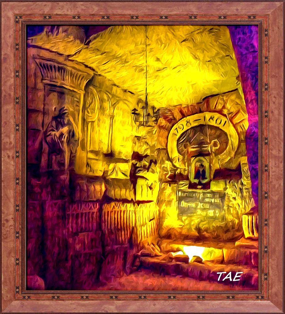 Photo in Random #art #oil #painting #inside #netherlands #darkness #fine #cave #canvas #valkenburgh