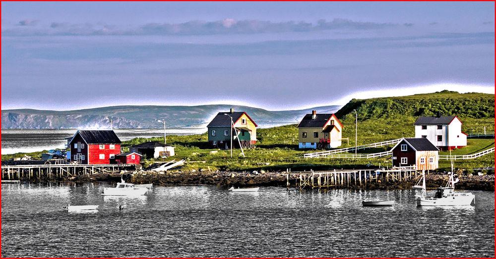 Photo in Random #harbour #village #norway #midnight sun #honningsvag
