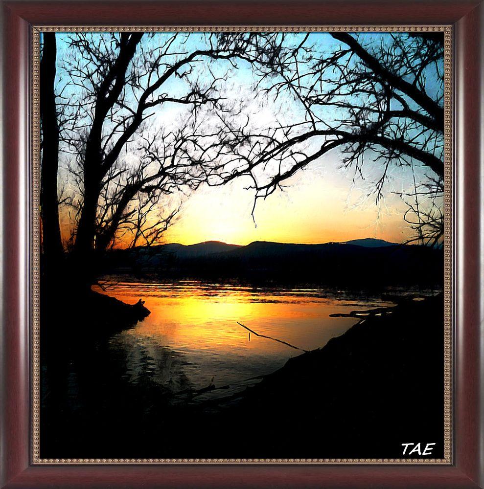 Photo in Random #art #oil #painting #italy #trees #lago #shore #sunset #fine #maggiore #canvas