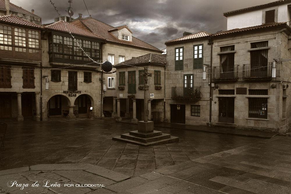 Photo in Random #plaza #square #galicia #pontevedra #galician #woodfire square