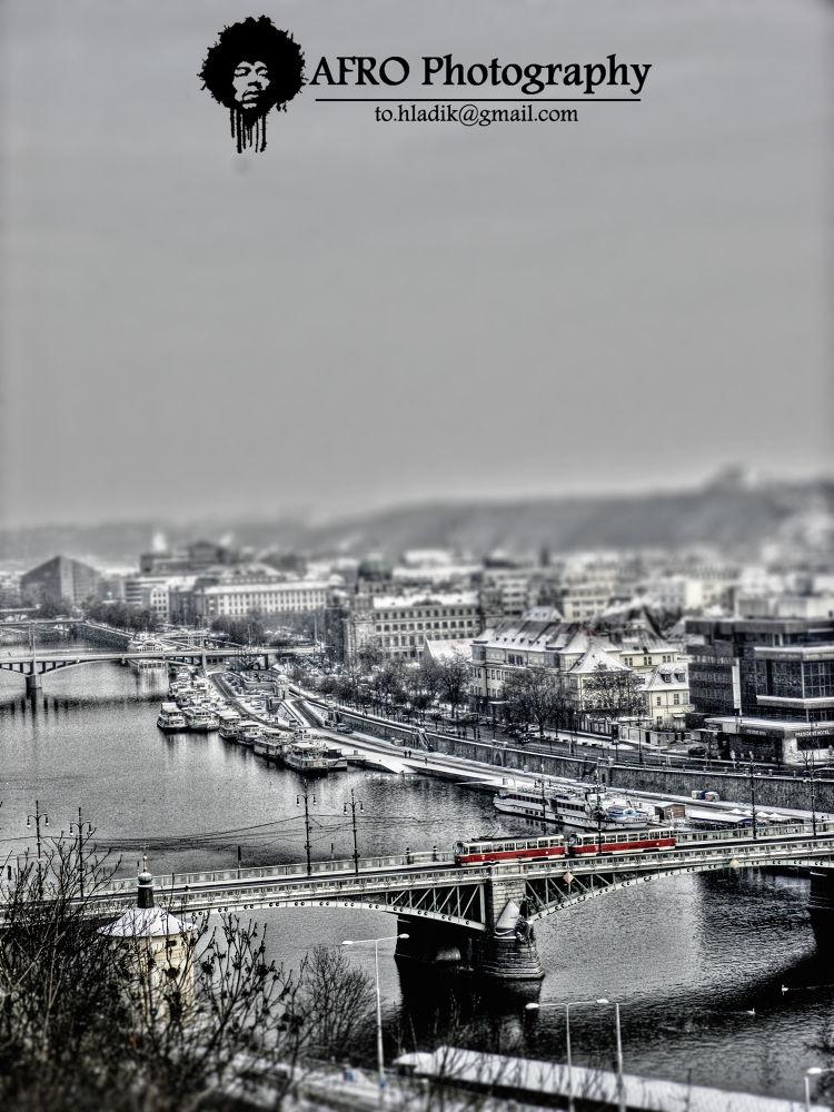 Photo in Random #bridge #tram #prague #praha #most #tramvaj