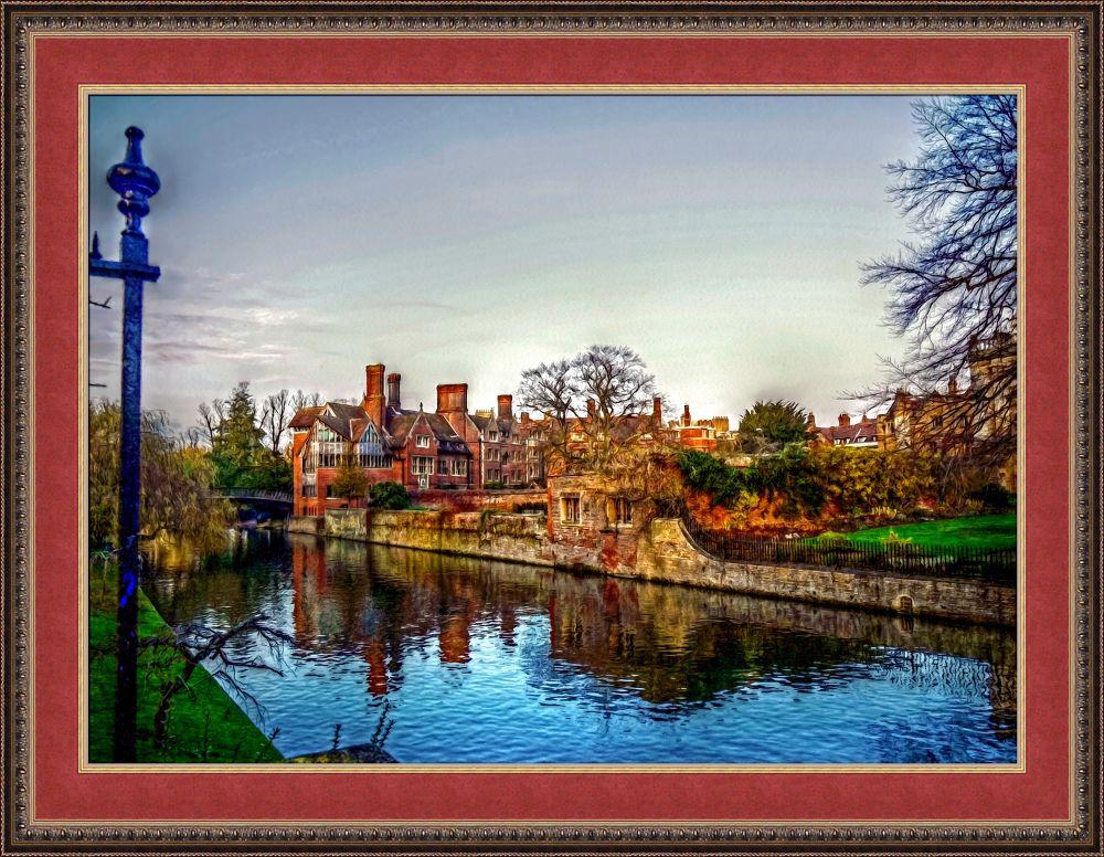 Photo in Random #art #oil #painting #college #river #cambridge #university #england #fine