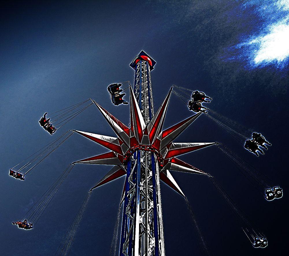 Photo in Fine Art #amusementparks sky