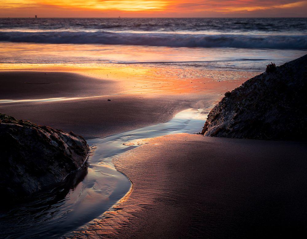 Photo in Landscape #sunset #marshalls beach #san francisco #coastline #california #shoreline #tides #life #nature #landscape #colors #depth #perpective