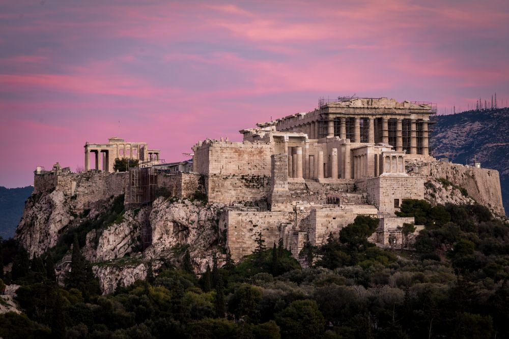 Photo in Architecture #athens #history #ancient #acropolis #greece #sunset #colors #architecture