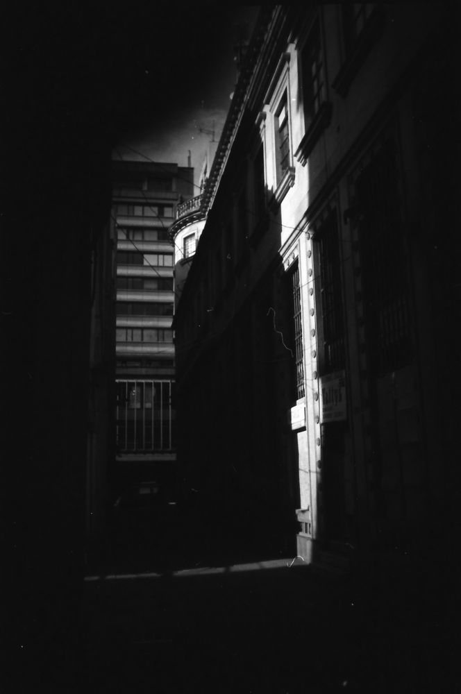 Photo in Black and White #blackandwhite #sun #35mm #film #shadow