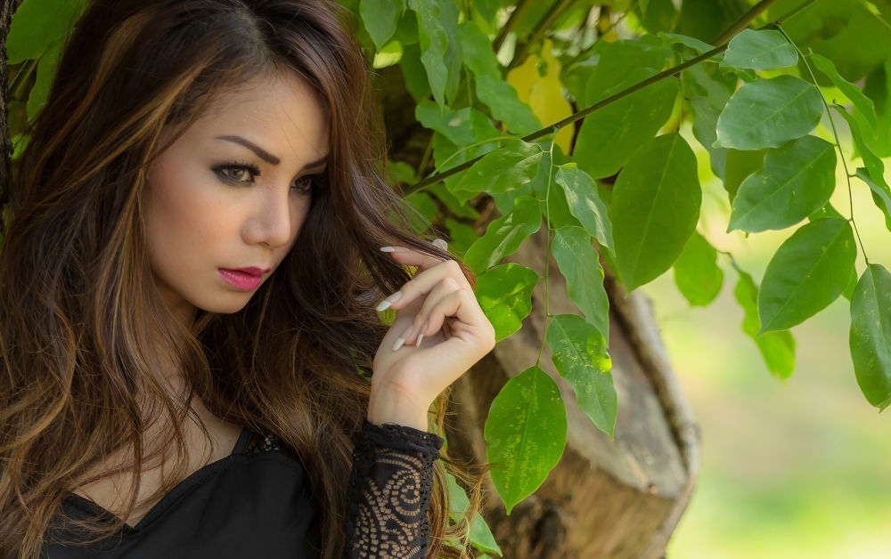 Photo in Portrait #beauty #model #woman #hunting #green #photooftheday