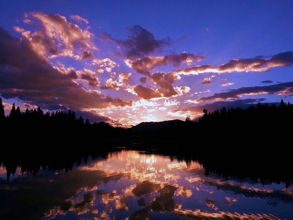 Photo in Landscape #reflection #reflections #lake #uintas #payson #utah #uinta #uintah #clouds #sun #beams