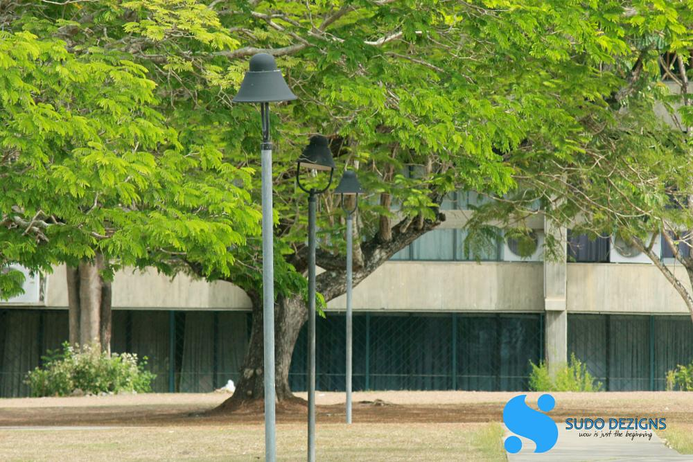 Photo in Street Photography #university #lights #street #lamp #landscape #nature #old #building
