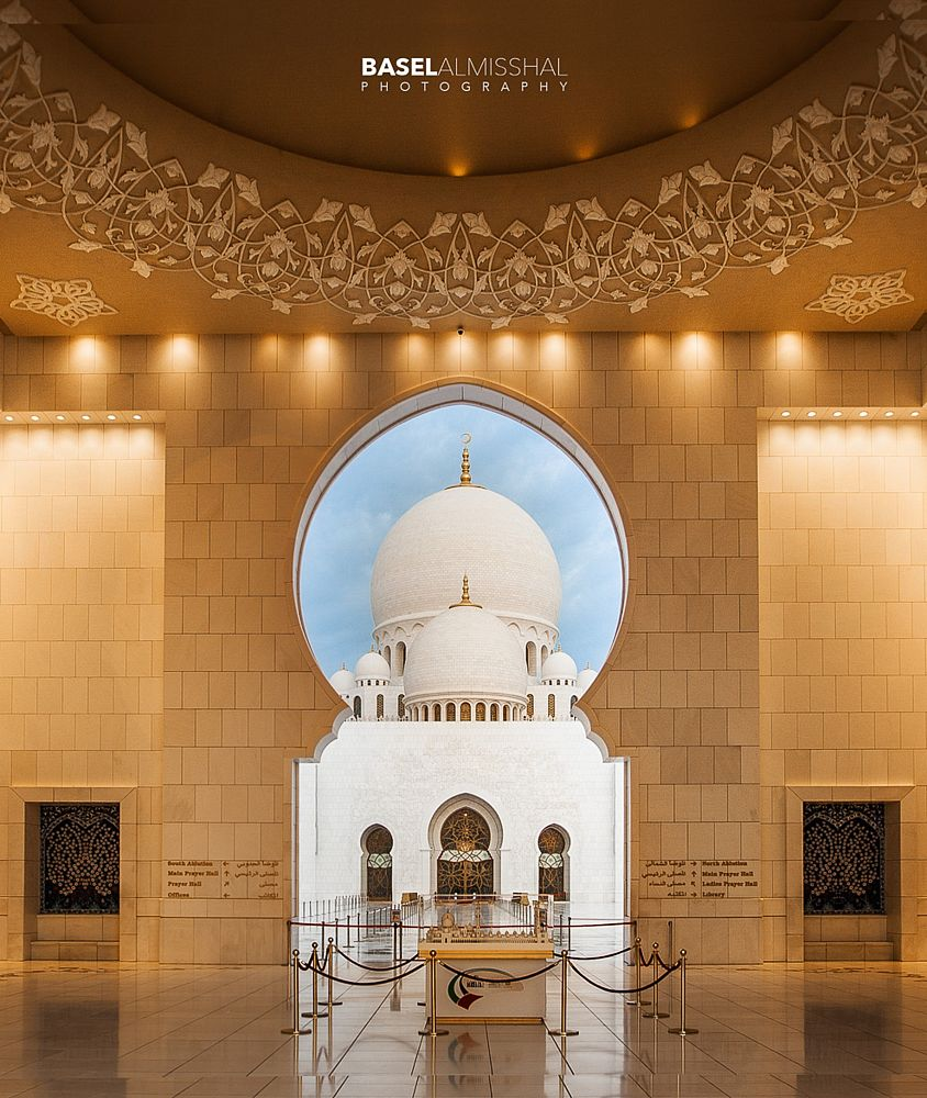 Photo in Architecture #abu dhabi #arabic architecture #arches #architecture #architecture photographer #basel almisshal #grand mossque #grande mosquée #islamic architecture #loctions #middle east #outdoor #shaikh zayed mosque #arcade #dome #mosque #urban
