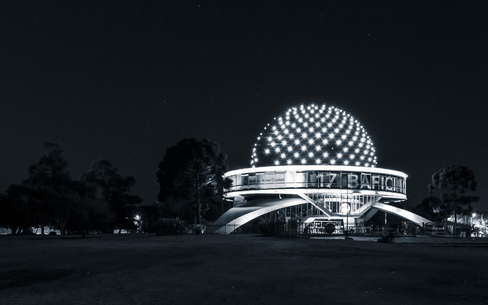 Photo in Architecture #planetarium #argentina #buenos aires #night #stars #bw #contrast #lights #space #fjeril