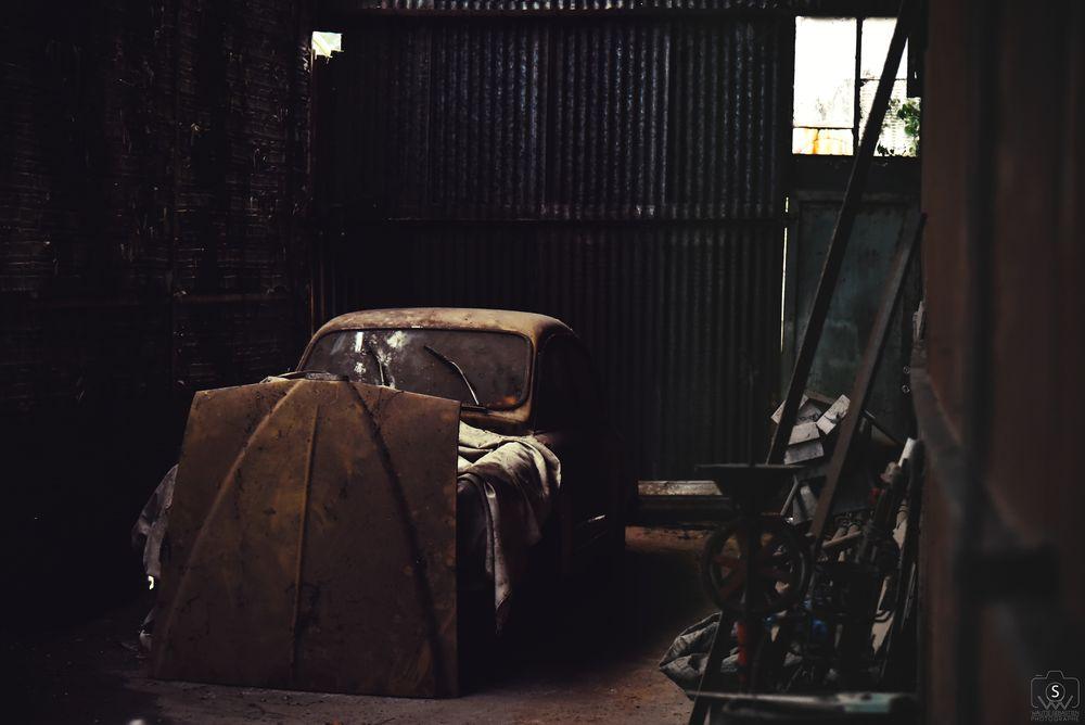 Photo in Interior #retro #car #workshop #saab