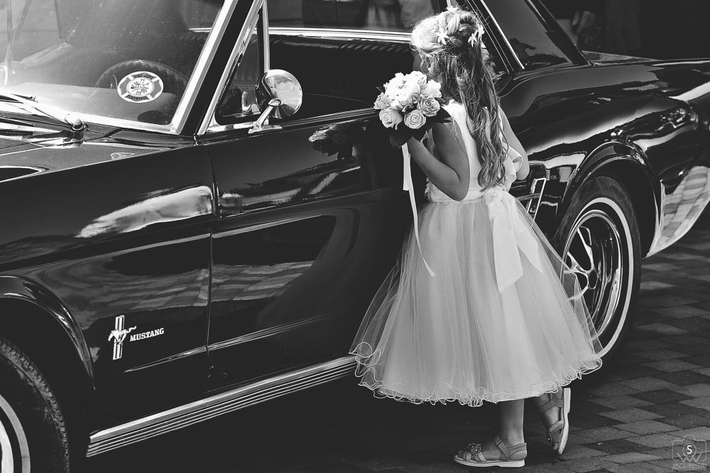 the car of the newlyweds