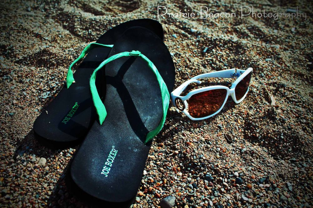 Photo in Sea and Sand #sandals #sand #beach #sunglasses #summer
