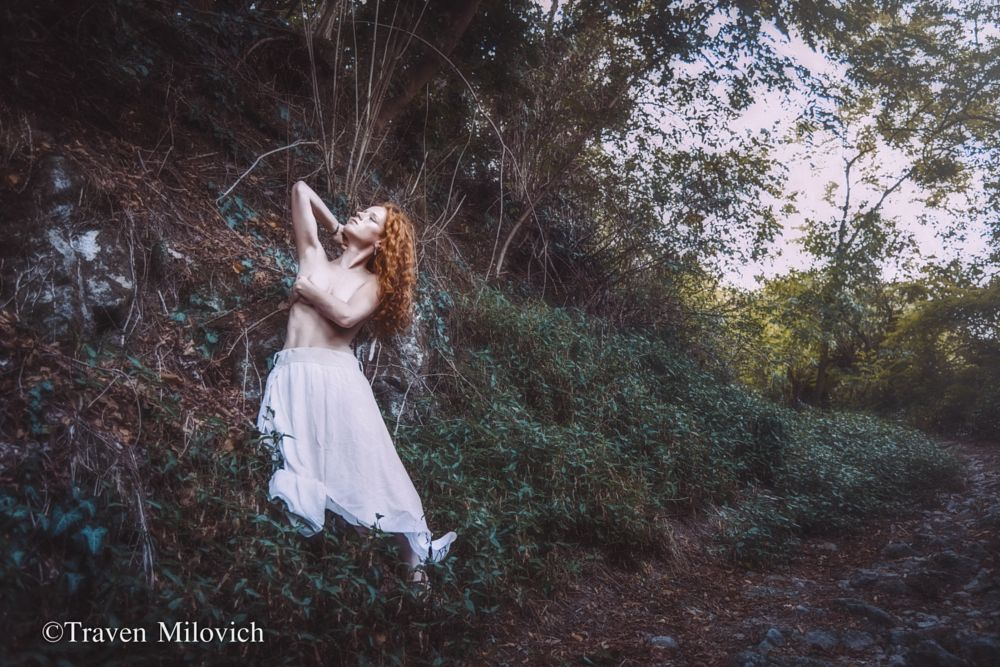 Photo in People #woman #girl #forest #red hair #naked #nude #sexy #woods #summer