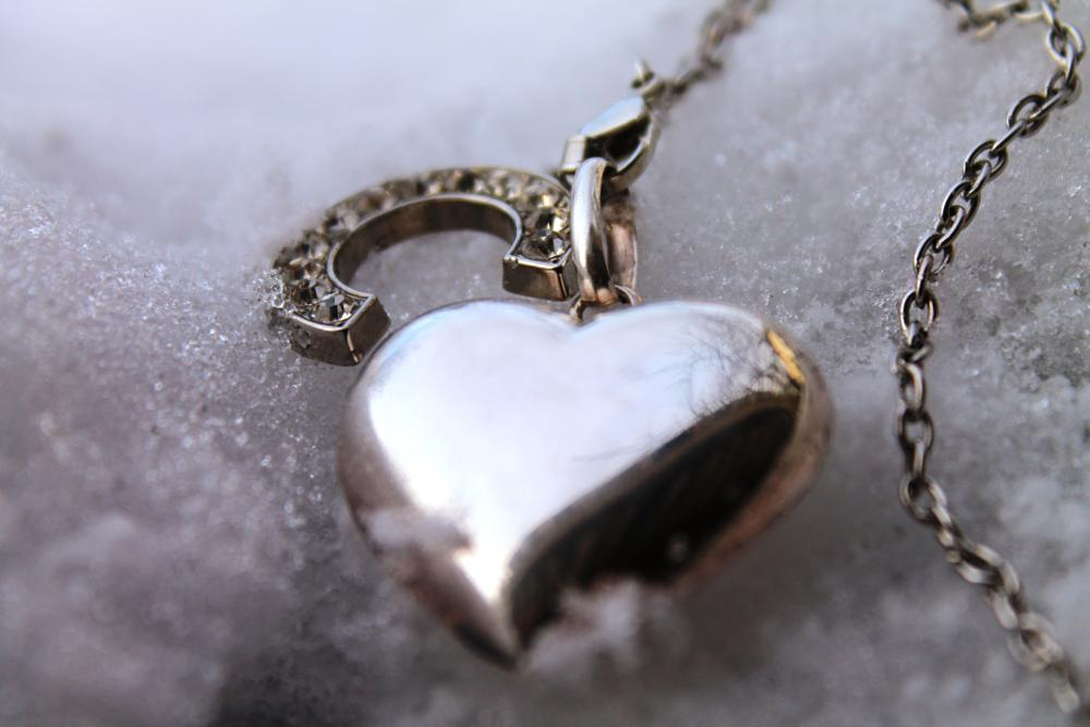 Photo in Abstract #snow #letter #heart #necklace