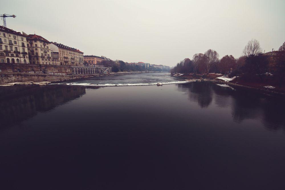 Photo in Landscape #river #water #mirror #turin #torino
