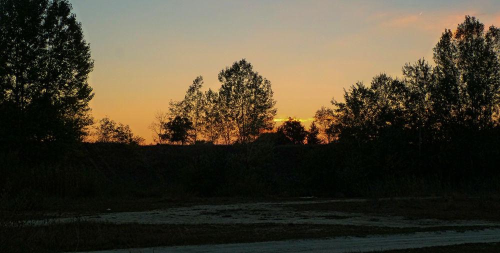 Photo in Landscape #sunset #contrast #kelebia #majdan #serbia