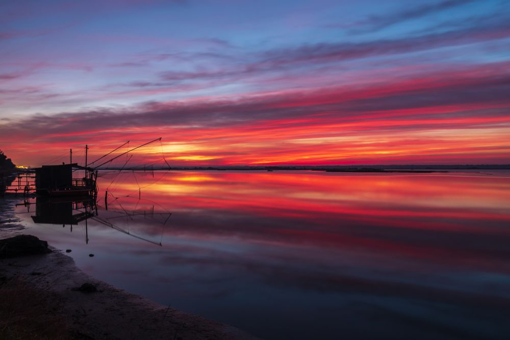 Photo in Landscape #sunset #marina romea #colors #water