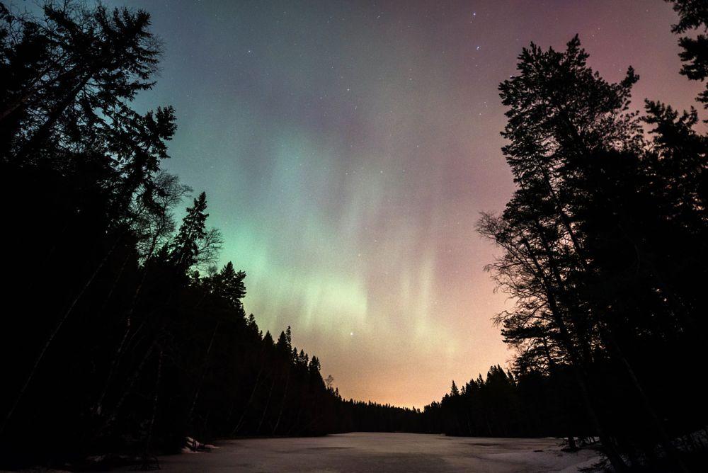 Photo in Nature #lake #winter #aurora