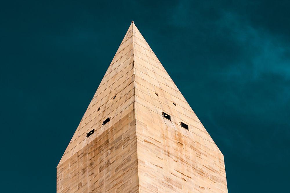 Photo in Architecture #obelisk #view #clouds #color #usa #architecture