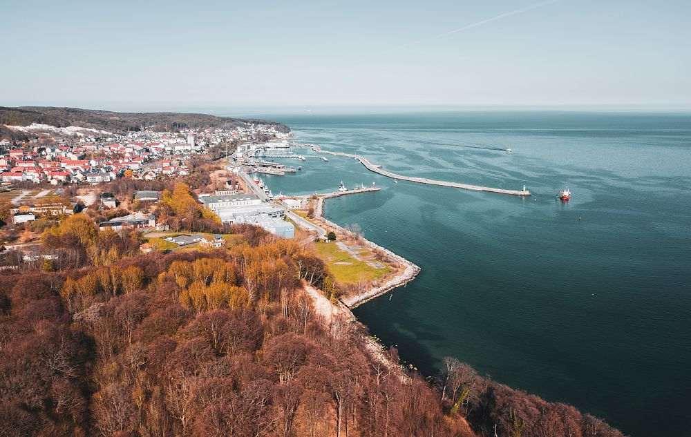 Photo in Landscape #city #nature #water #ocean #sun #boats #above #view