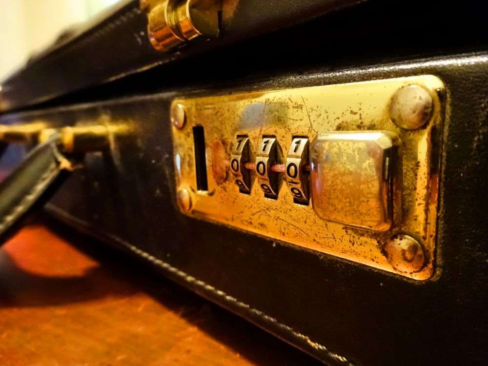 Photo in Still Life #vintage #briefcase #old #lock #brass