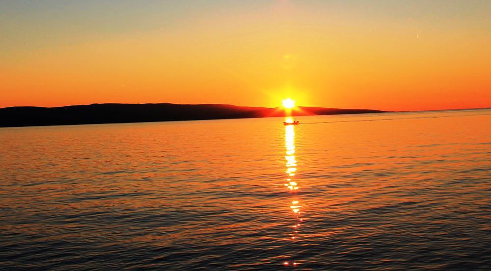 Photo in Landscape #boat #sunset #sea