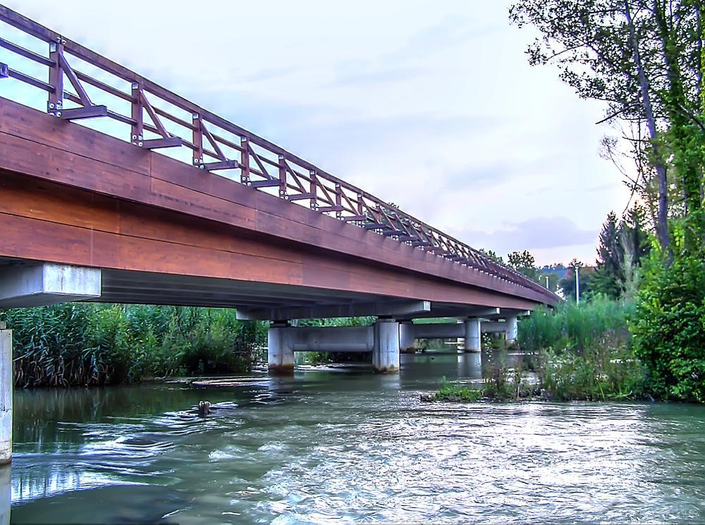 Photo in Landscape #mreznica #river #bridge