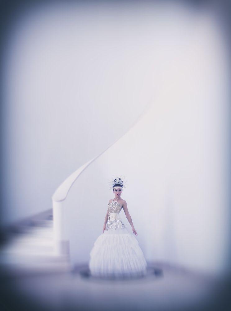 Photo in Fashion #model #editorial #white #dress #highfashion
