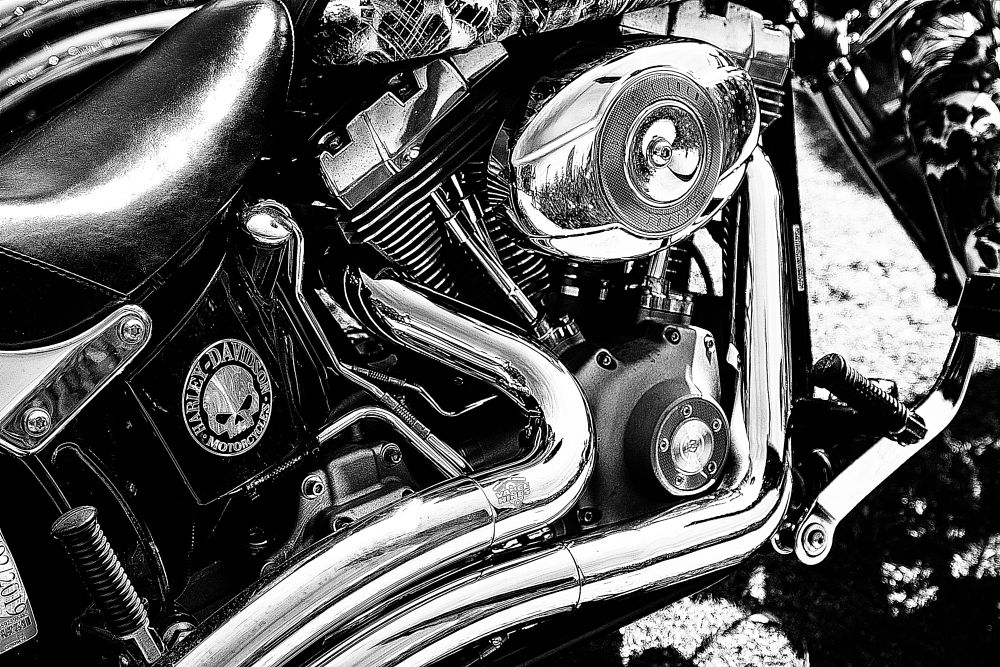 Photo in Random #harley bike b&w