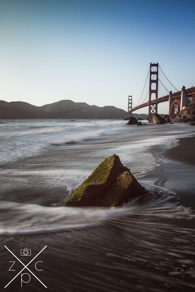 Photo in Landscape #golden #golden gate #bridge #golden gate bridge #water #long exposure #water #san francisco #california #beach #ocean #landscape #architecture #united states