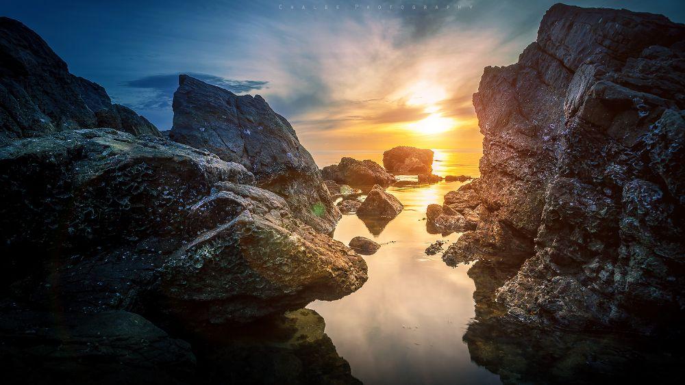 Photo in Nature #sea #sun #stone #light
