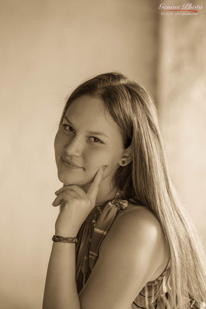 Photo in Portrait #smile #monochrome #mood