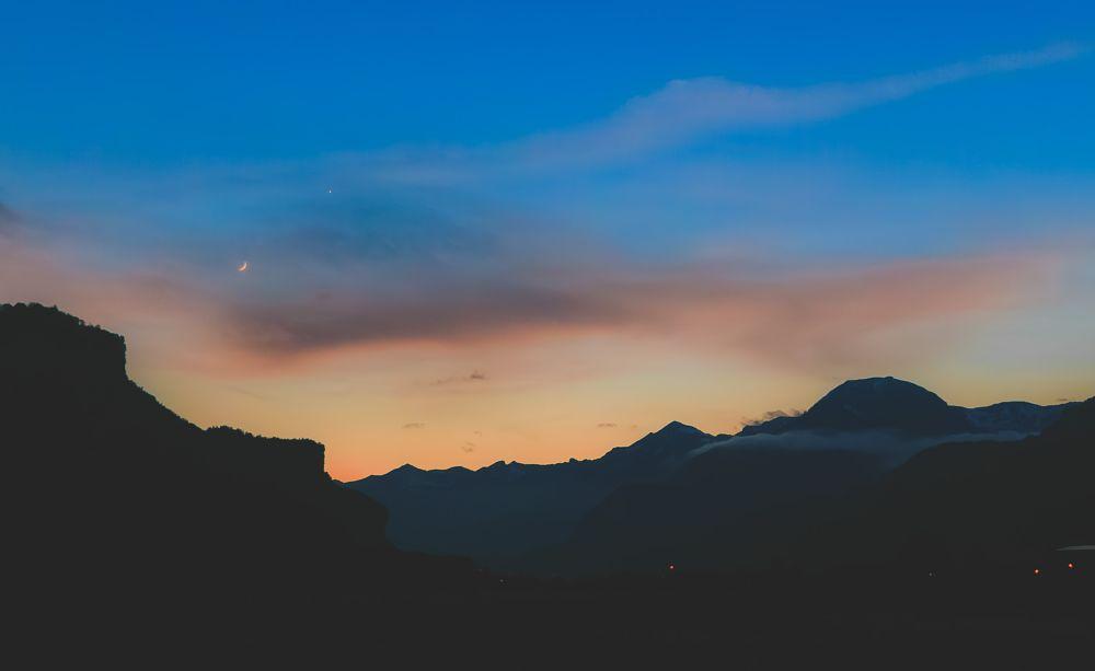 Photo in Landscape #sunset #landscape #nature #mountain