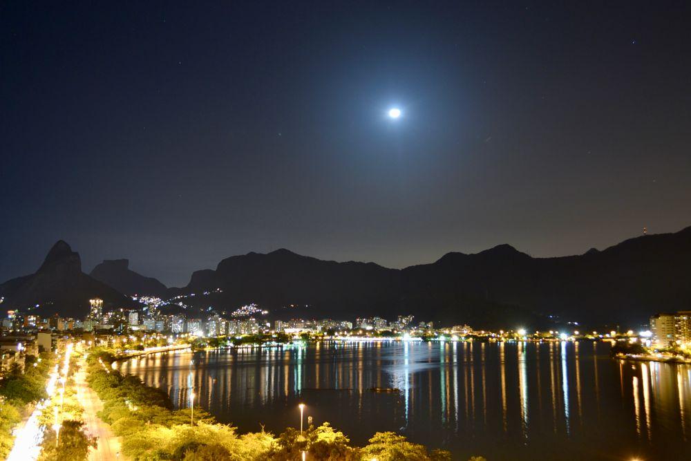 Photo in Aerial #lagoa #nightshot #moonlight