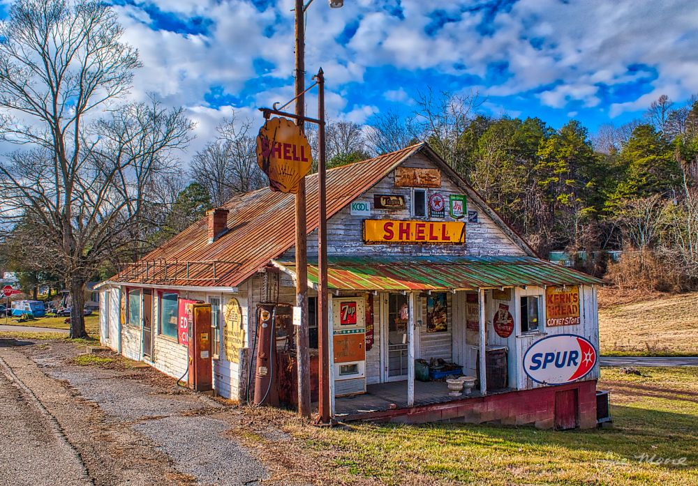 Photo in Rural #shell #sign #signs #store #old #gaspump #gas #pump #spur #kool