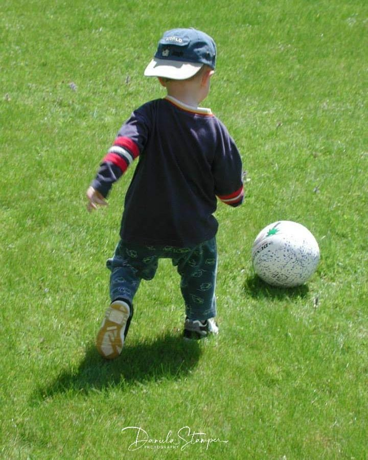 Photo in People #sport #baby #toddler #hopecontest #hope #action #child #ball #football #fussball #kind #soccer