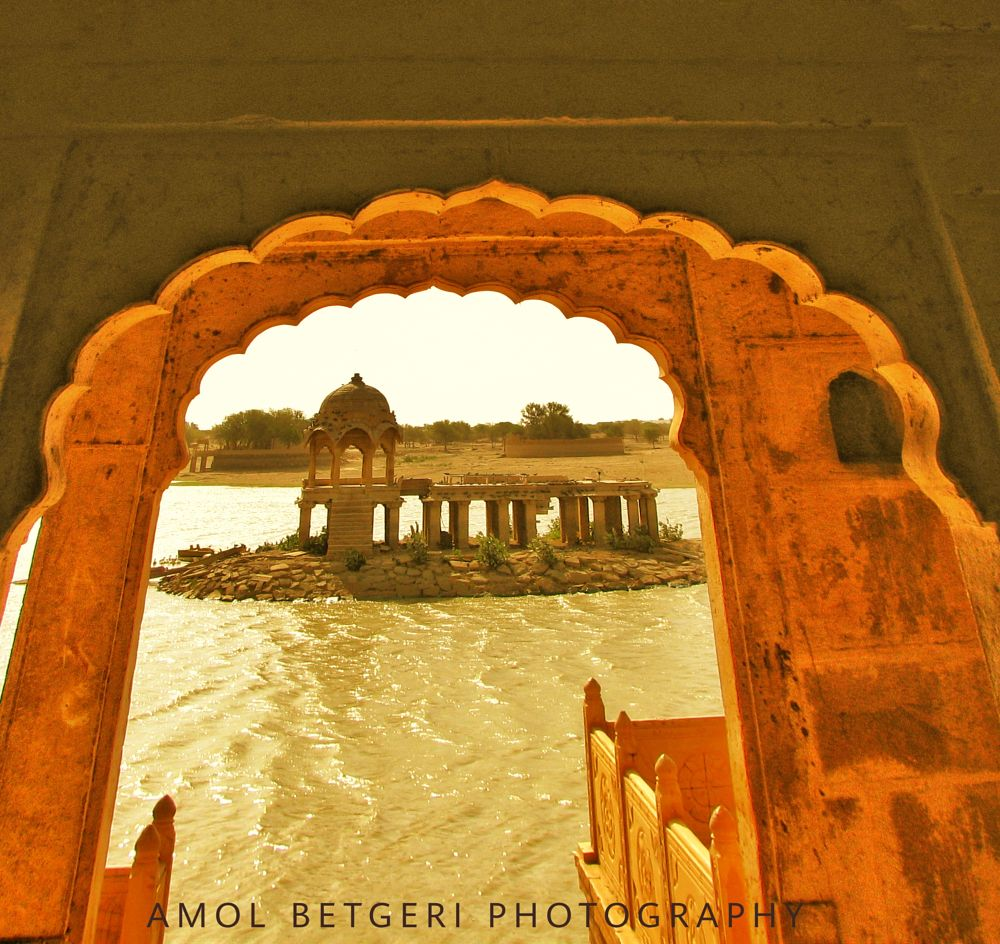 Photo in Random #gadsisar lake #lake #gadsisar #jaisalmer #india