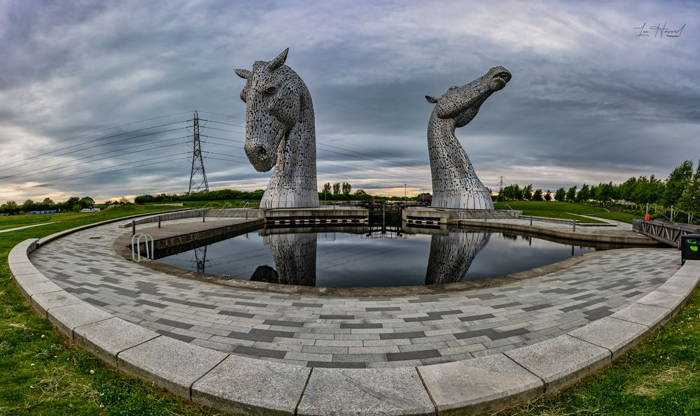 Photo in Random #kelpies #scotland #scottish #sculpture #wide angle #landscape