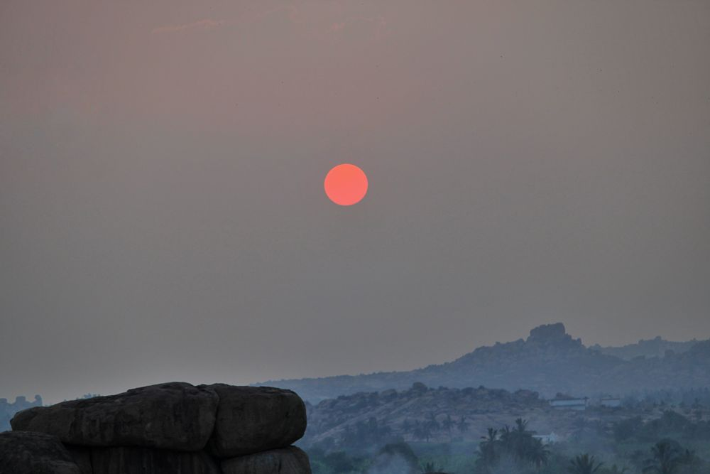 Photo in Landscape #hampi #sunset #unesco #sun #calm #peaceful #photography #photographer #art #landscape