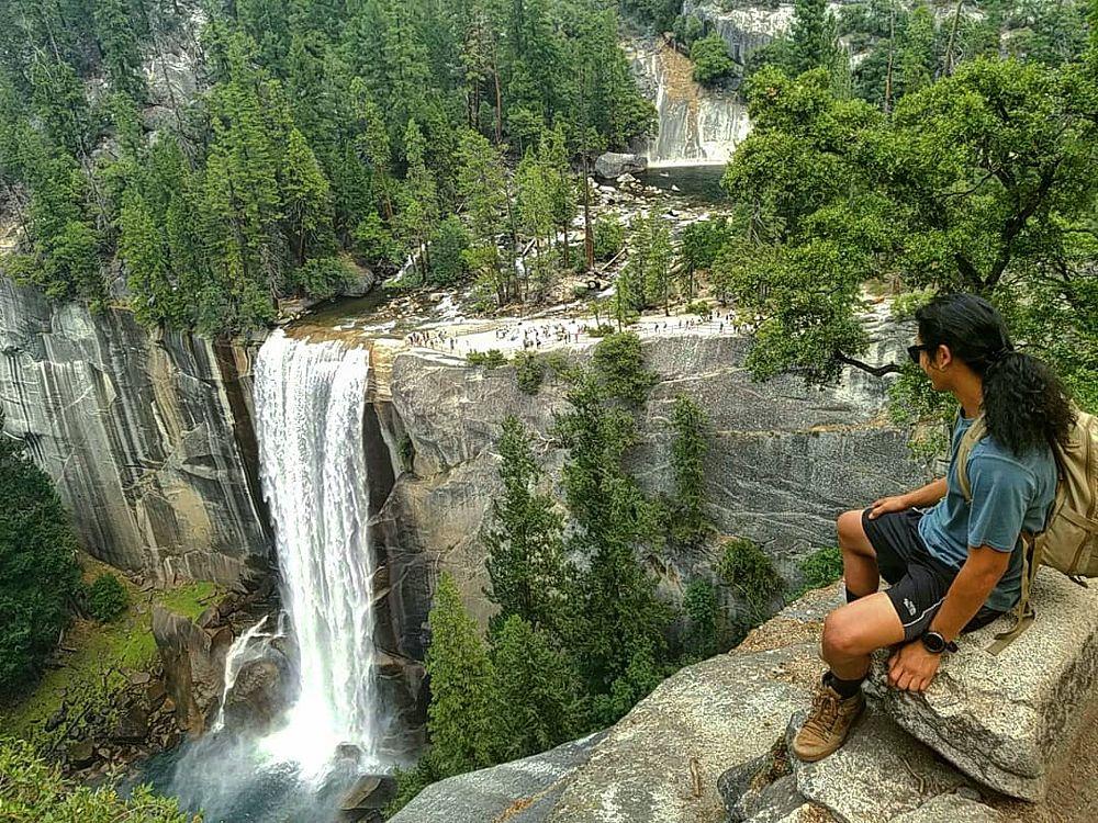 Photo in Nature #falls #hiking #dayhike #nationalpark #yosemite #gooutside