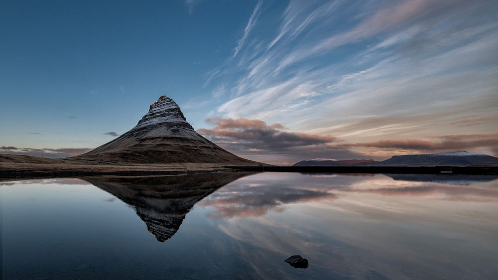 Photo in Landscape #kirkjufell #sunset #reflection #iceland #mountain