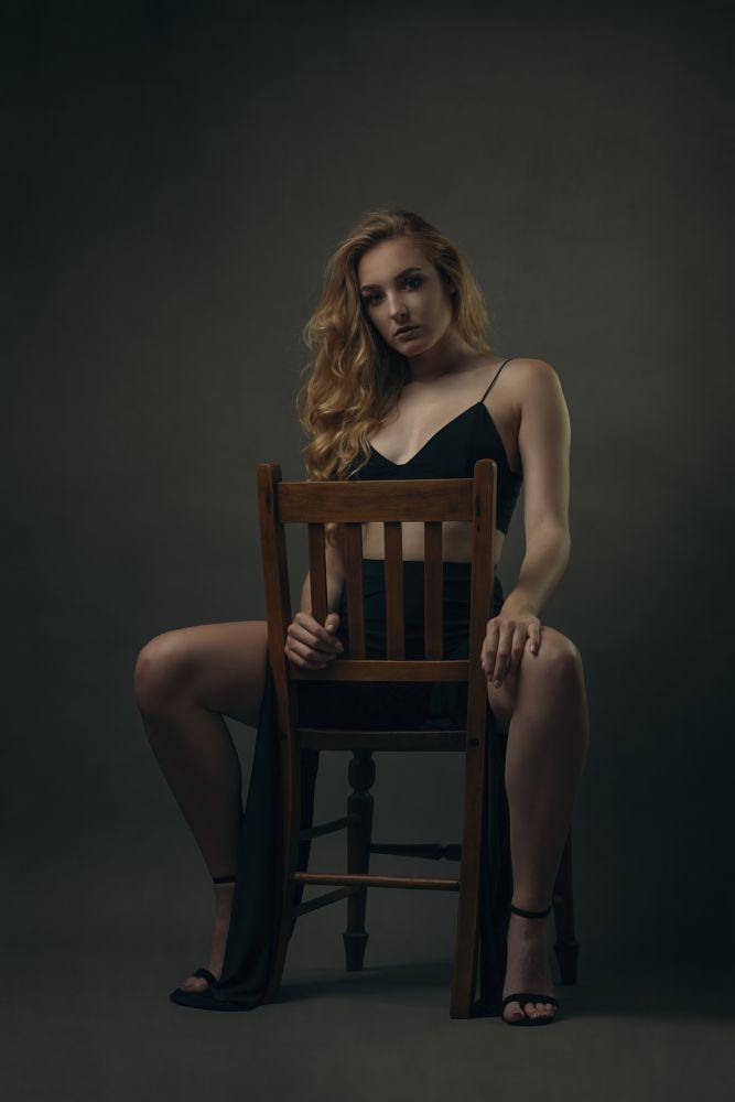 Photo in Portrait #female #model #seated #legs #beauty #fashion #heels #glamour