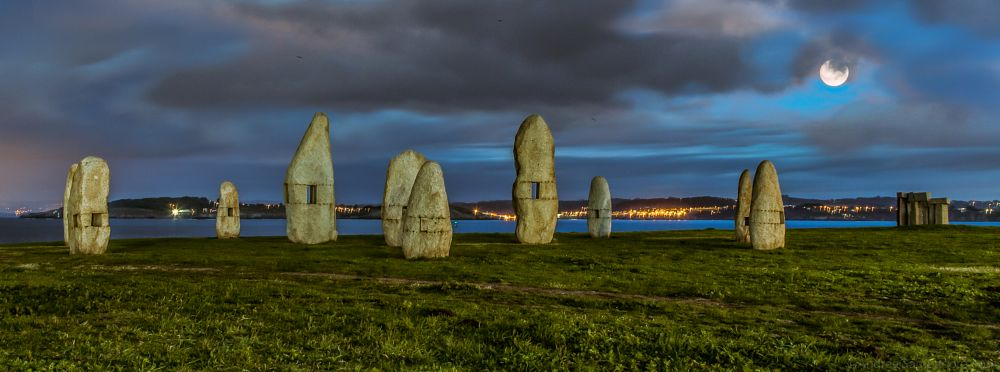 Photo in Nature #nature #landscape #archeology #stones #standing #coruna #hdr #beauty #hugh #dynamic #range #clouds #sky