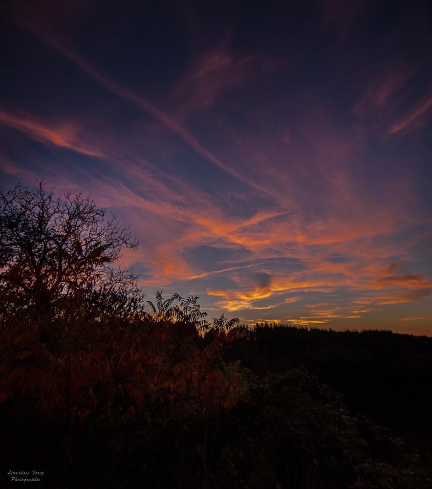 Photo in Landscape #auvergne #puy-de-dôme #livradois-forez #augerolles #sunset