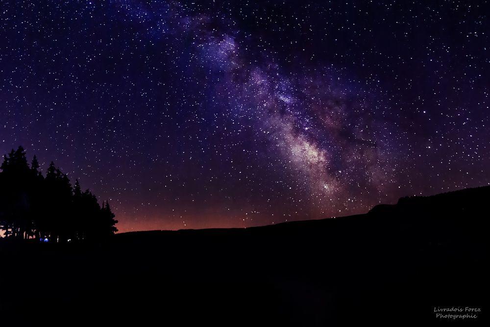 Photo in Landscape #auvergne #puy-de-dôme #lac de servières #voie lactée #livradoisforezphotographie #night #sky #orcival