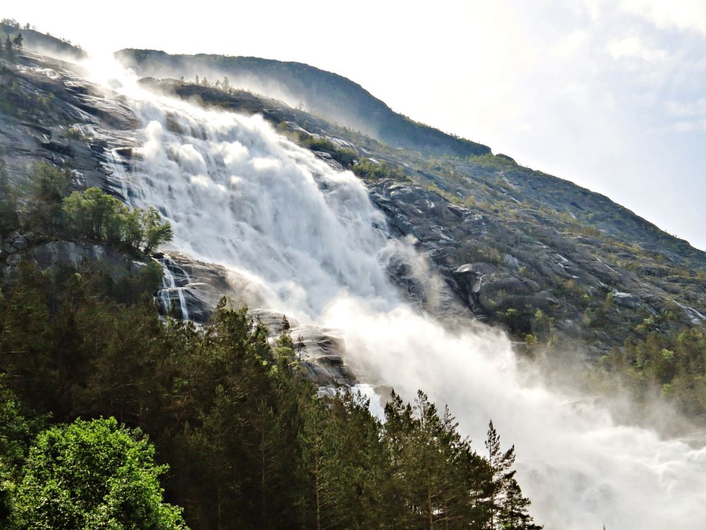 Photo in Nature #waterfall landscape nature #norway #nature landscapes norway #nature