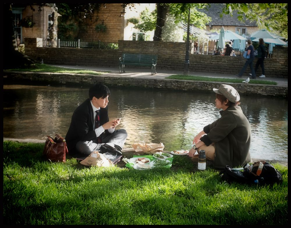Photo in Random #woman #river #dinner #bourton-on-the-water #england #greatbritain #couple